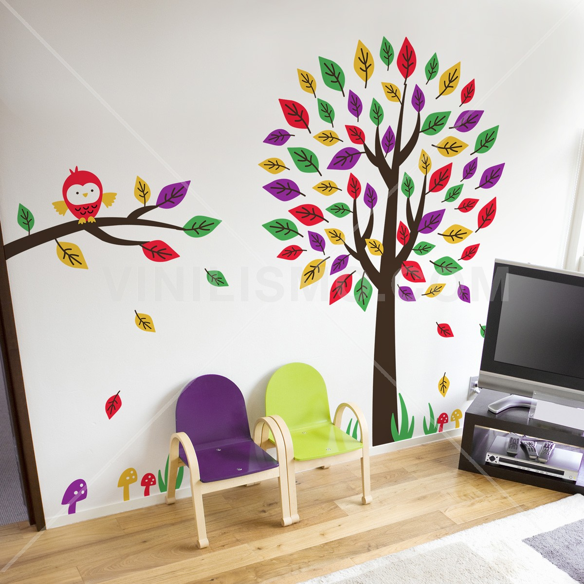 Vinilo decorativo rbol divertido - Vinilo decorativo arbol ...