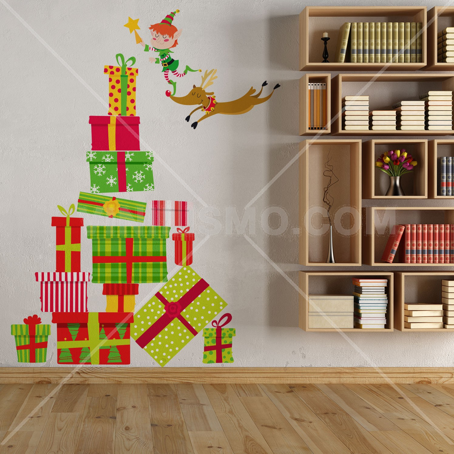 Vinilo decorativo rbol navide o for Papel para forrar puertas