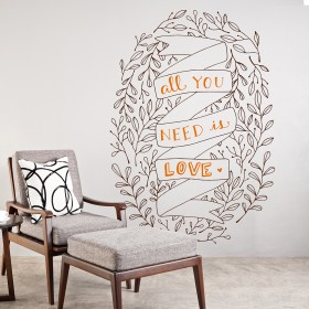 Vinilo Decorativo: Is love