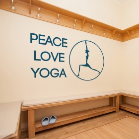 Da click! Vinilo Decorativo Peace Love Yoga