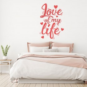 Vinilo Decorativo: LOVE OF MY LIFE