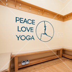 Vinilo Decorativo: Peace Love Yoga