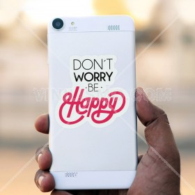 Vinilo decorativo para celular: Be Happy