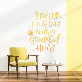 Vinilo Decorativo: A GREATFULL HEART