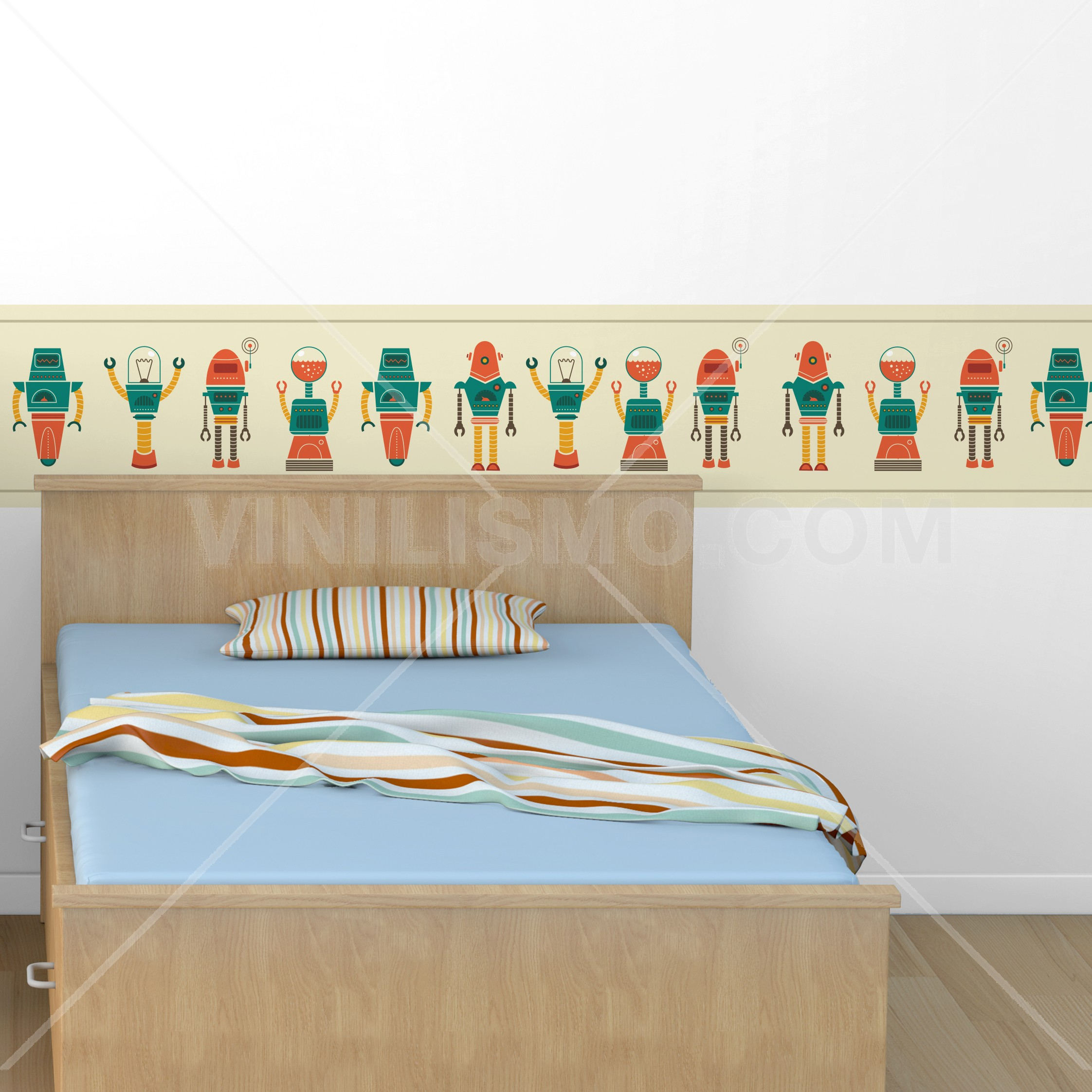 Kids wall border 20 for Stickers decorativos