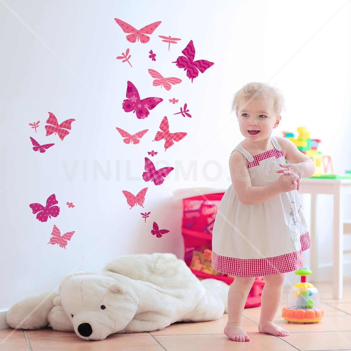 Wall decal mariposas for Stickers decorativos