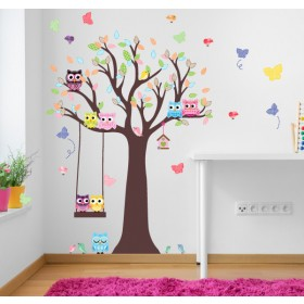 Featured products Vinilo Decorativo: Árbol con Buhos
