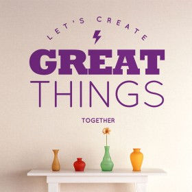 Wall Decal: Great Things