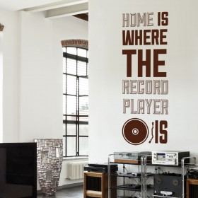 Wall Decal: Record Player
