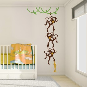 Wall Decal: Changuitos Jugando