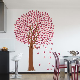 Wall Decal: Árbol con búho