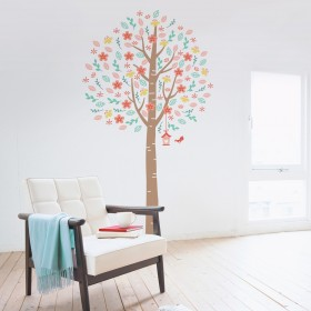 Wall Decal: Árbol florecer