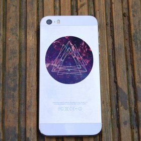 Cell phone decal: Galaxy