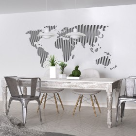 Featured products Vinilo Decorativo: Mapa Líneas