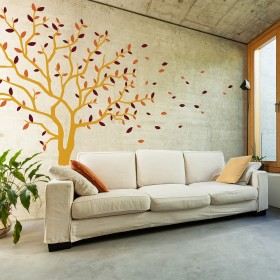 Wall Decal: Árbol ventisca