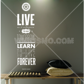 Wall Decal: Gandhi