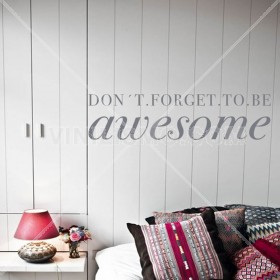 Wall Decal: Be Awesome
