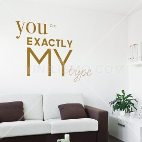 Wall Decal: My Type