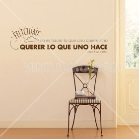 Wall Decal: Felicidad Es
