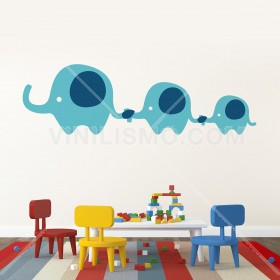 Wall Decal: Familia de Elefantes 2