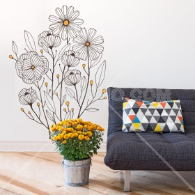 Wall Decal: Ramo floral 1