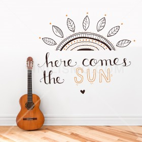 Wall Decal: Here comes the sun