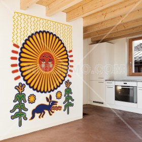 Wall Decal: Sol Huichol