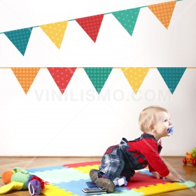 Wall Decal: Banderines niños