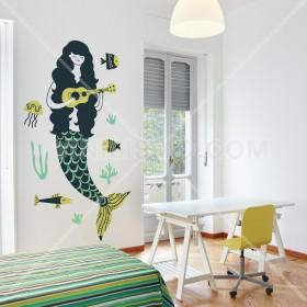 Wall Decal: Sirena bajo el mar