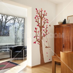 Wall Decal: Árbol columpio 3