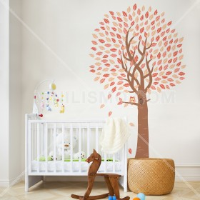 Wall Decal: Árbol con búho 2