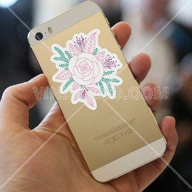 Cell phone decal: Corsage