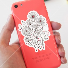 Cell phone decal: Ramo floral 1