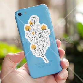 Cell phone decal: Ramo floral 2