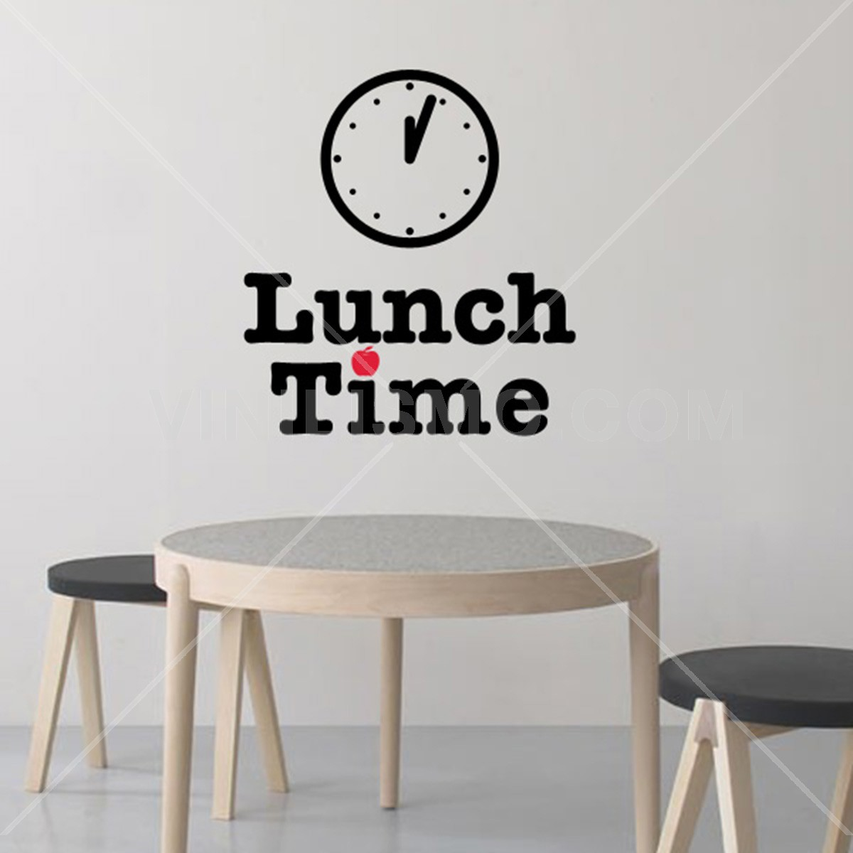 Wall decal lunch time for Stickers decorativos