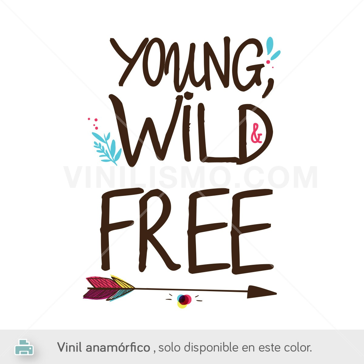 Wall Murals Quotes Vinilo Anam 243 Rfico Young Wild And Free